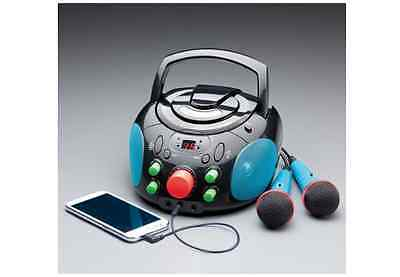 New Karaoke Machine, Includes CD Player, 2 Microphones, Stereo Speakers, Party