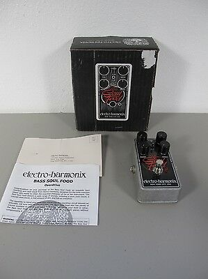 Electro-Harmonix Bass Soul Food Overdrive Distortion Fuzz Guitar Effects Pedal