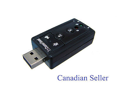 USB 7.1 Channel 3D Virtual External Audio Sound Card Adapter for Laptop Desktop