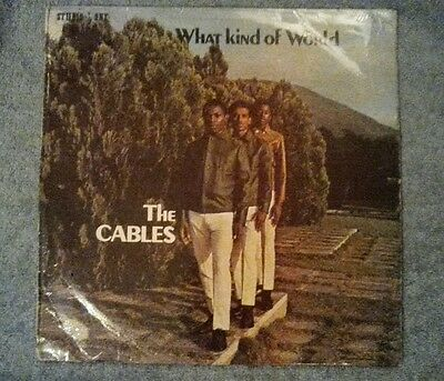 """What Kind Of World - The Cables - Studio 1 -Screen Printed LP 33"""""""