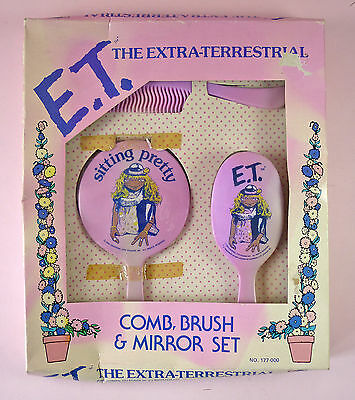E.t. The Extraterrestrial Comb, Brush & Mirror Set - Nrfb - Star Power - 1982