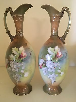 Antique Victorian Jugs Hand Painted