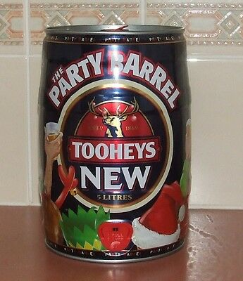 2002 Tooheys Party Christmas Keg 5 Litre - Tooheys New Tin Only.