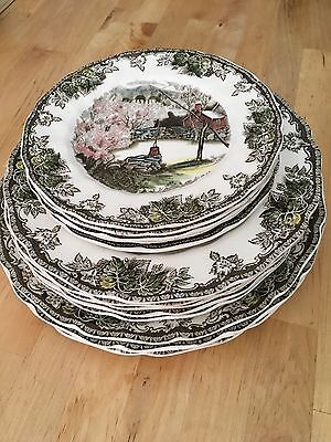 "Johnson Brothers Friendly Village Collector Plates ""Made in England"""