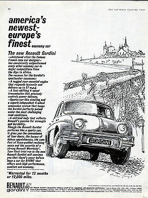 1961 Renault Gordini car ad Europe's finest --l-504