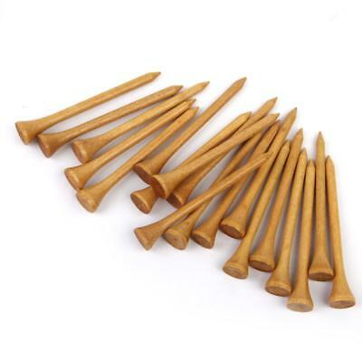 Pack of 100 Professional Wooden Golf Tees 83MM Long Burlywood