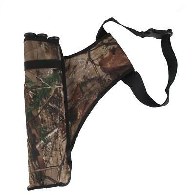 Camouflage Archery Hip/Waist Belt Arrow Quiver Holder Pouch with 3 Tubes