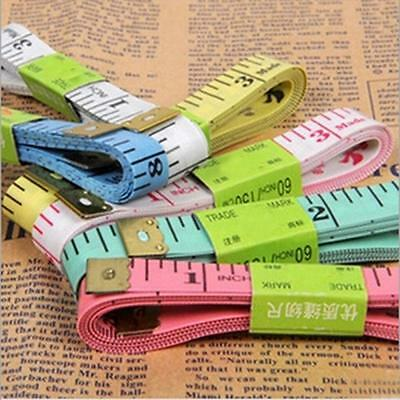 """60"""" /150cm Portable Tailor Sewing Soft Flat Body Measuring Tape Measure Ruler"""
