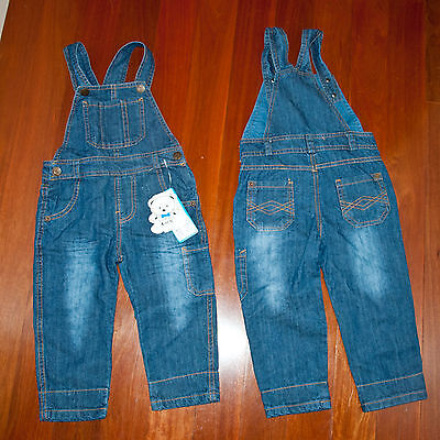 Kids Blue Denim Overalls size 2-3 years, Brand New with original tags