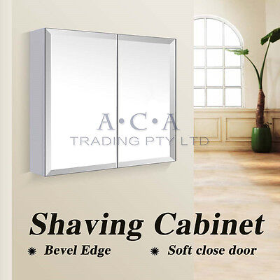 750 x 720x150mm Shaving Mirror Bevel Edge Bathroom Medicine Cabinet Vanity White