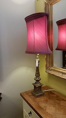 2 Vintage Large Lamps With Shades 1960/70's