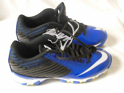 Nike Vapor Shark Boy's Cleats Youth Shoes Blue White 643161-014 Size 3.5Y