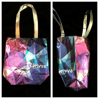 NEW!! IVIVVA by Lululemon LIMITED EDITION Tote BAG Purse Silver Foil Ivivva Bag