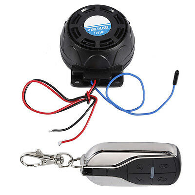 Motorcycle Anti-Theft Security Alarm Speaker System Vibration Detector 125db New
