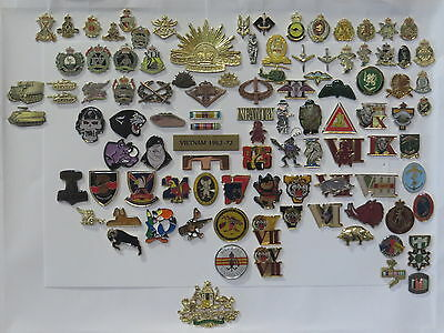 SGT Blue's Lapel & Hat Badge package Over 190 Badges, Anzac Remembrance Day