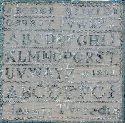 JESSANTIQUE NEEDLEWORK SAMPLER by JESSIE TWEEDIE dated 1890