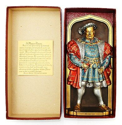 "Marcus Designs Medieval Wall Plaque ""henry Viii"" In Original Box D H Morton 1984"