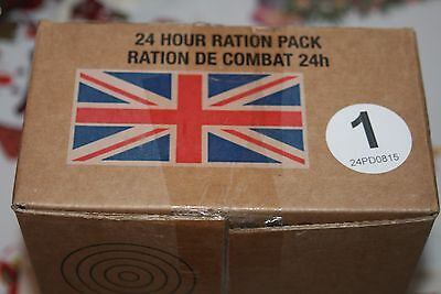 British Army Issue 24 hr Ration Pack cadets hunting camping bushcraft Menu 1