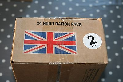 British Army Issue 24 hr Ration Pack cadets hunting camping bushcraft Menu 2