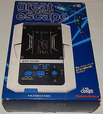 Rare Vintage 1982 Great Escape Lsi/fl Tabletop Game By Tsukuda In Box/boxed/nos