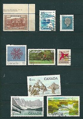 Canada 9 Different Stamps - Free Worldwide Shipping