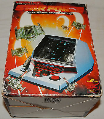 Vintage Star Force Space Battle Arcade Lsi Tabletop Game Grandstand In Box/boxed