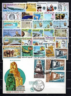 MAURITANIE lot timbres obl
