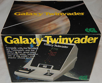 Vintage Galaxy Twinvader (Space Invaders) Vfd/lsi Tabletop Game In Box/boxed/nos