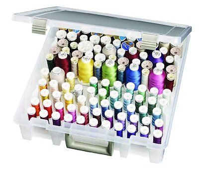 Thread Box Sewing Storage Case Compartment Trays Artbin Embroidery Removable New