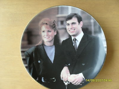 Coalport 1986 Royal Wedding Andrew & Fergie wall plate