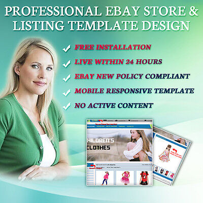 Professional Bay Store Shop Template, eBay Listing Mobile Responsive Templates