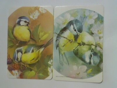 (2) Swap/Playing Cards - Pair Birds on Branches (Blank Backs)
