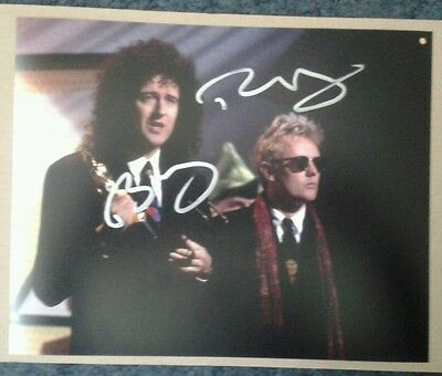 Brian May & Roger Taylor (Queen) Genuine Hand Signed Autographs