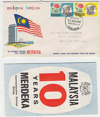 Malaysia 1967 Ammiv Independence FDC