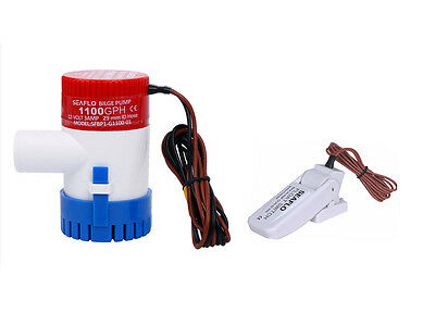 Seaflo 12V 1100GPH Submersible Bilge Water Pump With Float Switch