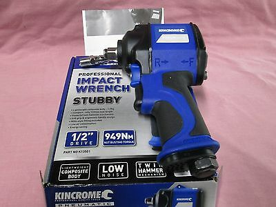 "Kincrome K13501 Pneumatic Professional Impact Wrench Stubby 1/2"" Drive"
