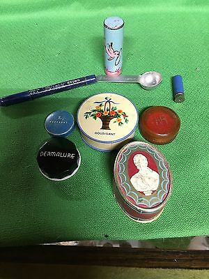Vintage Makeup Containers Houbigant, Du Barry, Woodbury, HR