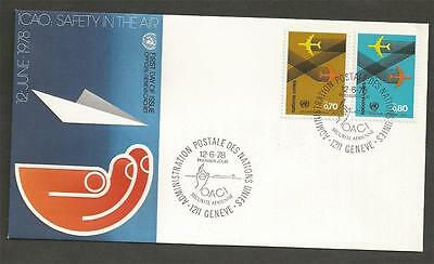 UNITED NATIONS - GENEVA - 1978 Air Safety  - FIRST DAY COVER.
