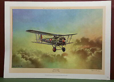 """BRISTOL BULLDOG"" by Barrie.A.F.Clark,LIMITED EDITION,SIGNED AND STAMPED,Print"