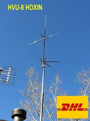 HVU-8 ANTENNA da BASE 3.5/7/14/21/28/50/144/430 MHz MULTI-BANDA HF BASE