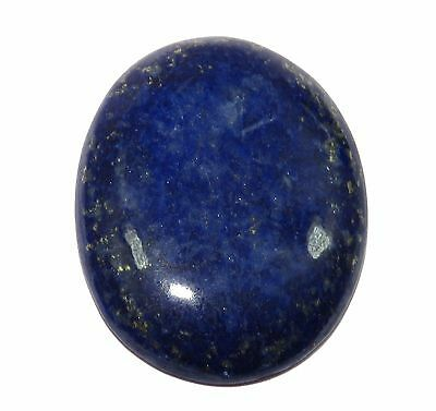Natural37.10 Ct Natural Certified Oval Shape Golden Flakes Lapis Lazuli Gemstone