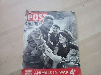 PICTURE POST - 28th OCTOBER 1944 - Vol. 25  Number 5 - ANIMALS IN WAR EBAY UK