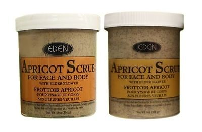 Eden Apricot Face & Body Scrub (Available In 227g & 454g Sizes)