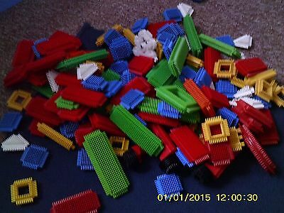 Approx  130 Stickle Bricks  Toys   Buyer Collects