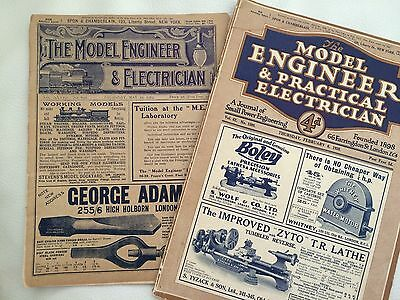 THE MODEL ENGINEER AND ELECTRICIAN 1913 and 1930 Antique Magazine