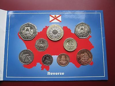 Bailiwick Of Jersey 1997 UNC 9 Coin Set collection Penny - 2£ Royal Mint Folder