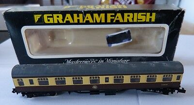 Graham Farish 0684 N Gauge BR 63ft MK1 Corridor 2nd (SK) Brown/Cream WR