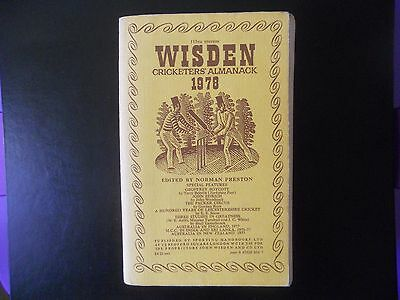 Wisden Cricketers Almanack 1978 - Softback