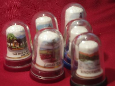 Porcelain Thimble Collection Of 6
