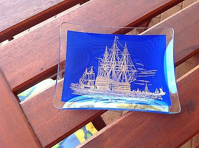 Vintage H.m.s. Victory Glass Dish